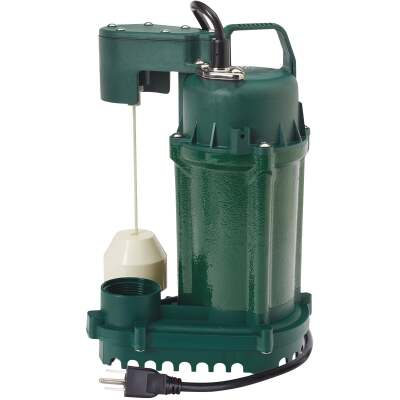 Zoeller 1/2 H.P. 115V Cast Iron Submersible Sump Pump, 60 GPM