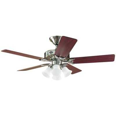 Hunter Studio 52 In. Brushed Nickel Ceiling Fan with Light Kit