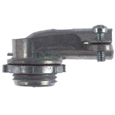 Halex 1/2 In. Clamp 90 Degree Armored Cable/Conduit Connector