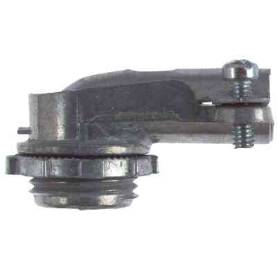 Halex 3/8 In. Clamp 90 Degree Armored Cable/Conduit Connector