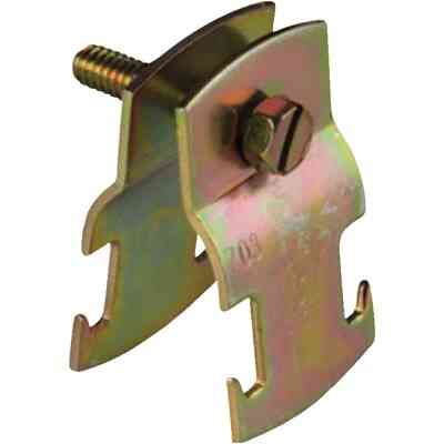 Superstrut 1/2 In. Gold Galvanized Electroplated Zinc Universal Pipe Clamp
