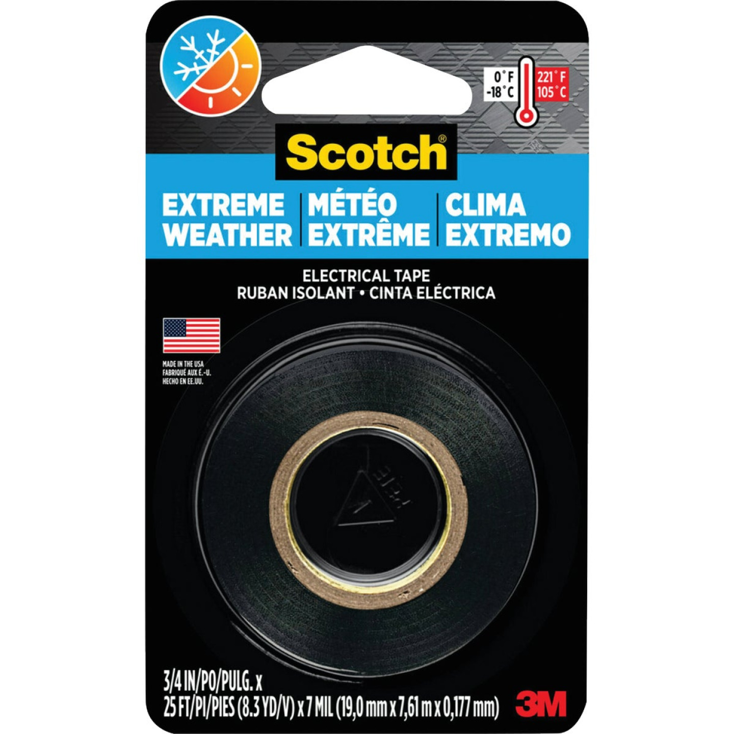 3M Scotch Cold Weather 3/4 In. x 300 In. Electrical Tape Image 1