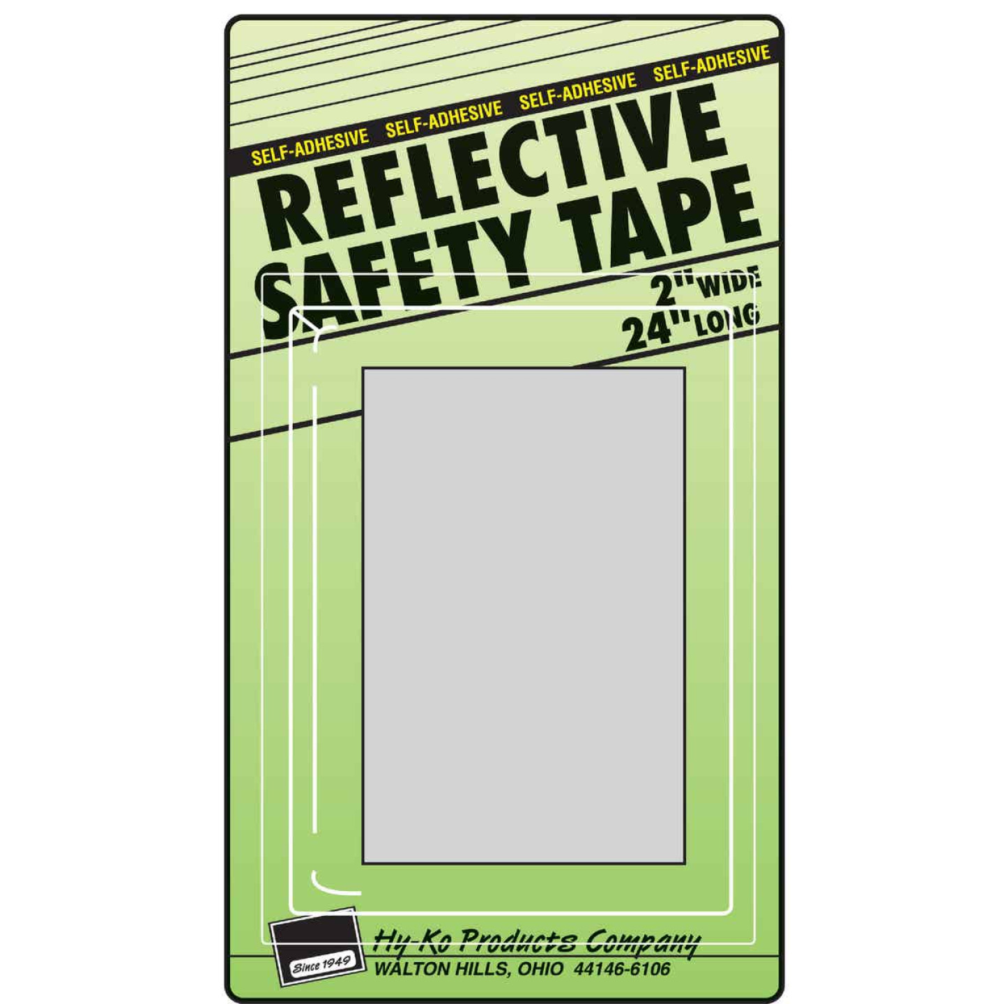Hy-Ko 2 In. W. x 24 In. L. Silver Stripe Reflective Safety Tape Image 1