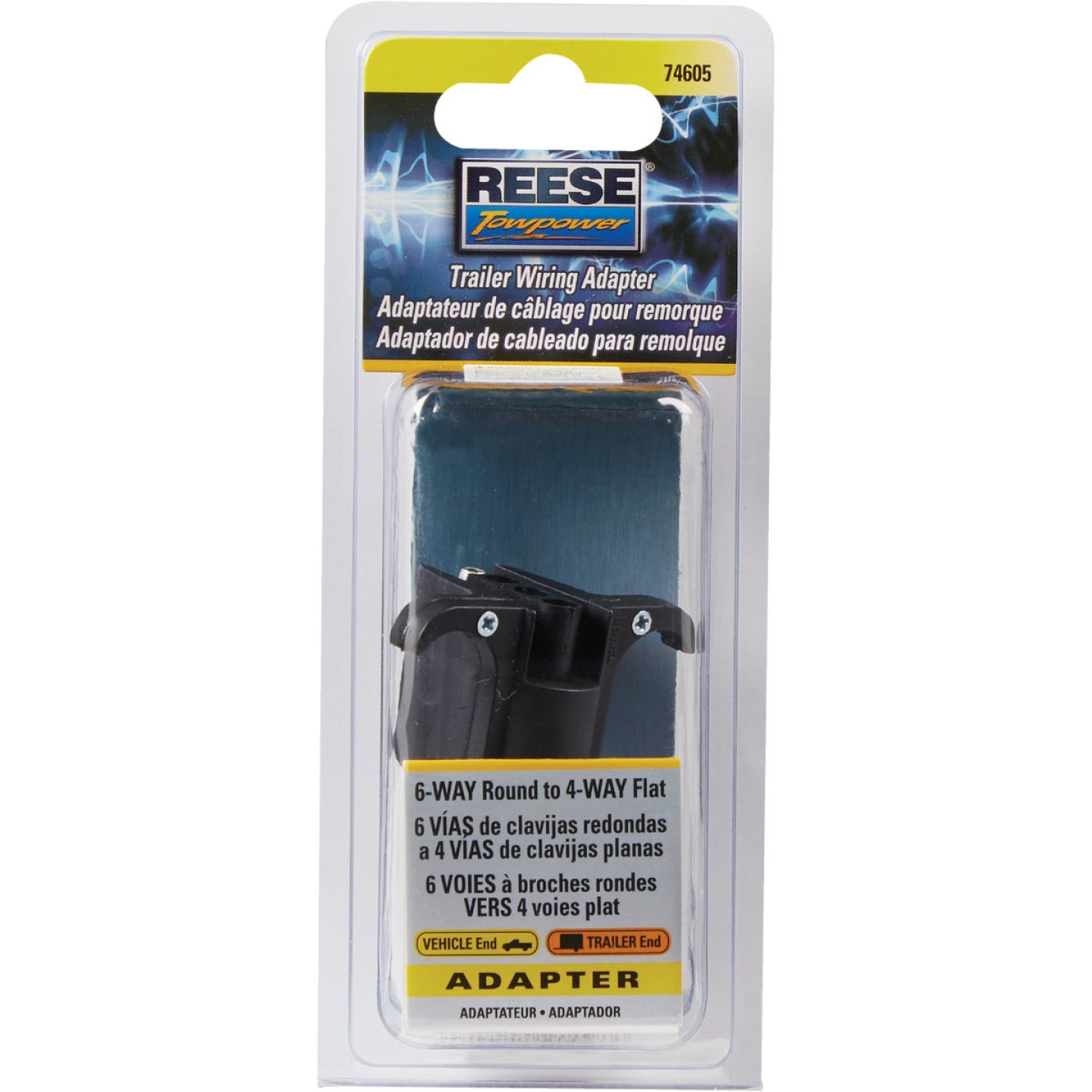 Reese Towpower 6-Pin to 4-Flat Plug-In Adapter Image 2