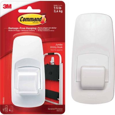 3M Command Jumbo Utility Adhesive Hook