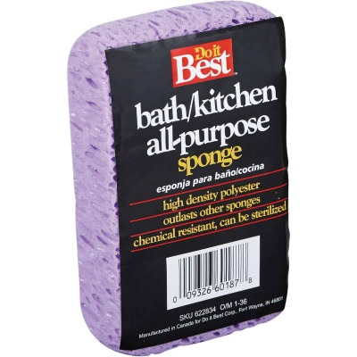 Do it Best 5.25 In. x 3.25 In. Purple Polyester Sponge