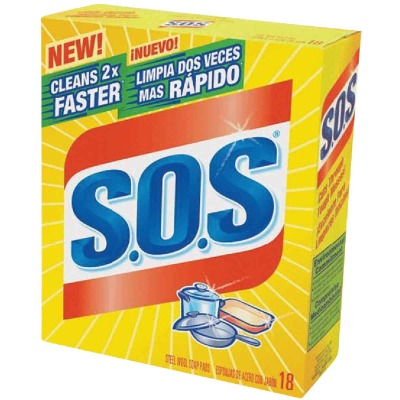 S.O.S. Scouring Pad (18 Count)