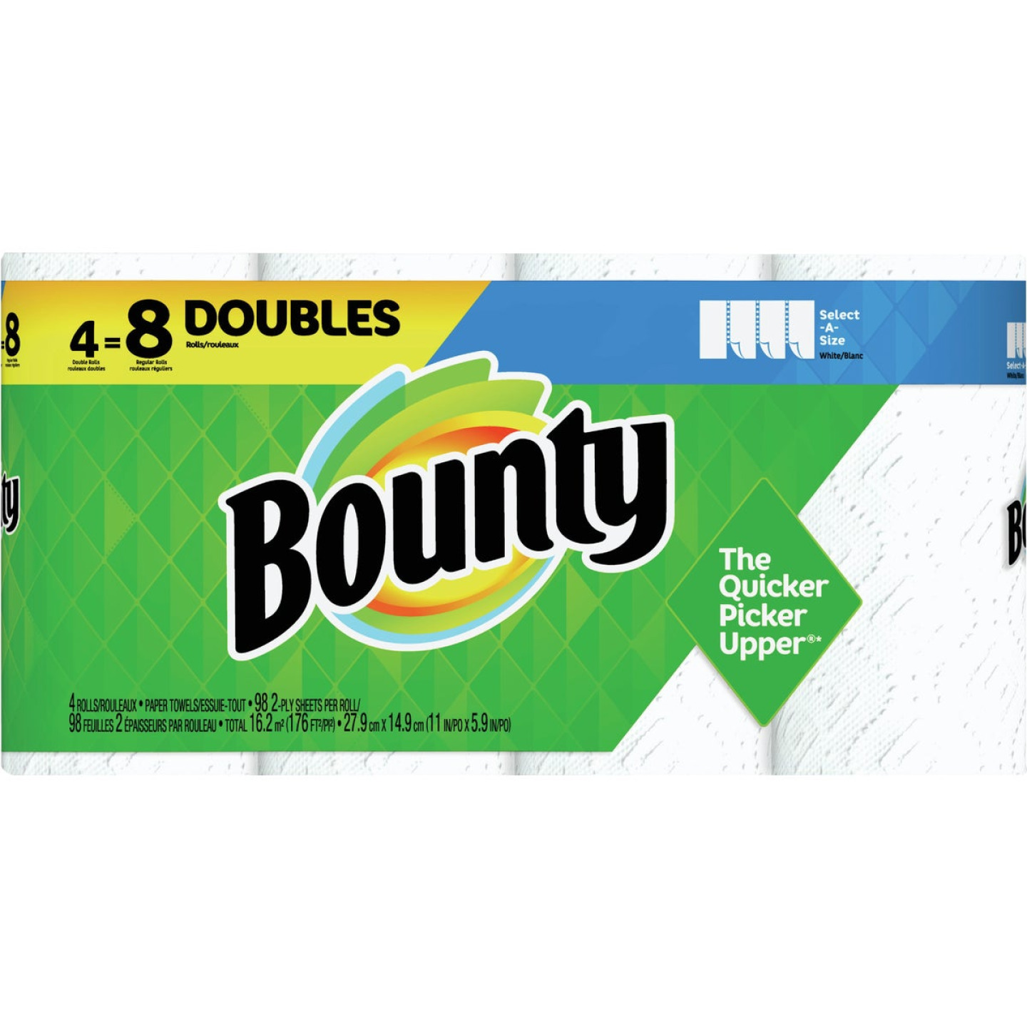 Bounty Select-A-Size Paper Towels (4 Double Rolls) Image 1
