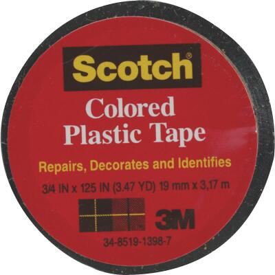 Scotch 3/4 In. Black Colored Plastic Tape