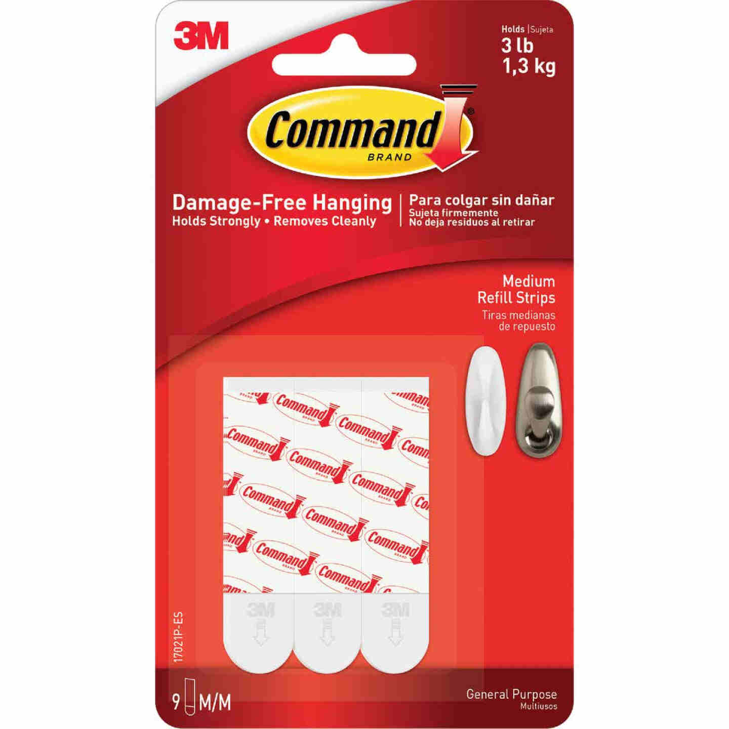 Command Medium Refill Mounting Adhesive Strip (9 Count) Image 2