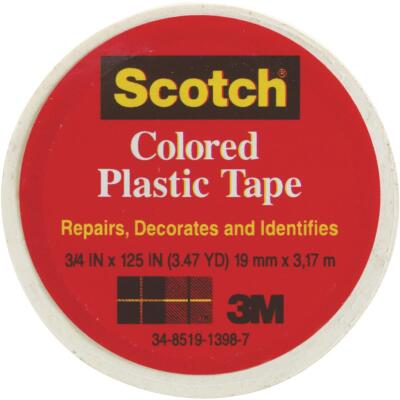 Scotch 3/4 In. White Colored Plastic Tape
