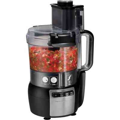 Hamilton Beach Stack & Snap 10-Cup Black Food Processor with Big Mouth