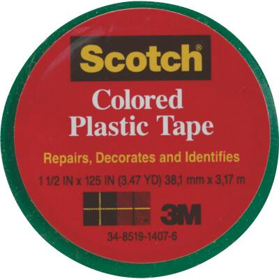 Scotch 1-1/2 In. Green Colored Plastic Tape