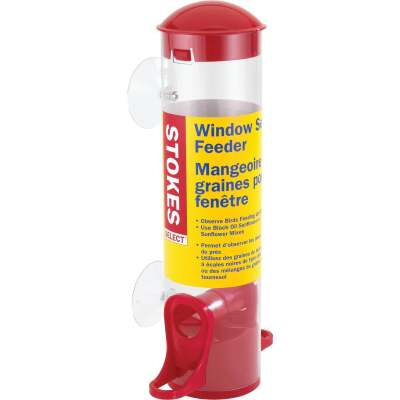 Stokes Select Red Plastic Window Bird Feeder