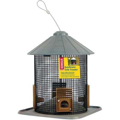 Stokes Select Gray Plastic Sunflower Crib Bird Feeder