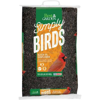 Best Garden 10 Lb. Black Oil Sunflower Wild Bird Seed