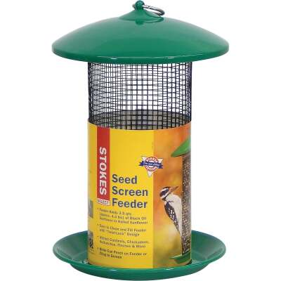 Stokes Select Green Metal Screen Tube Bird Feeder