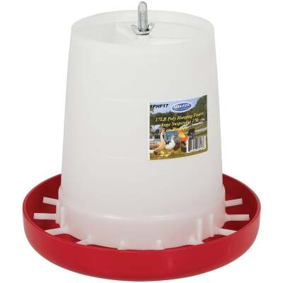 Farm-Tuff 17 Lb. Capacity Hanging Plastic Poultry Feeder