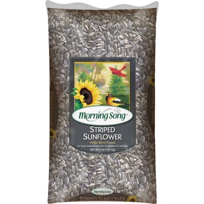 Morning Song 4 Lb. Striped Sunflower Wild Bird Seed