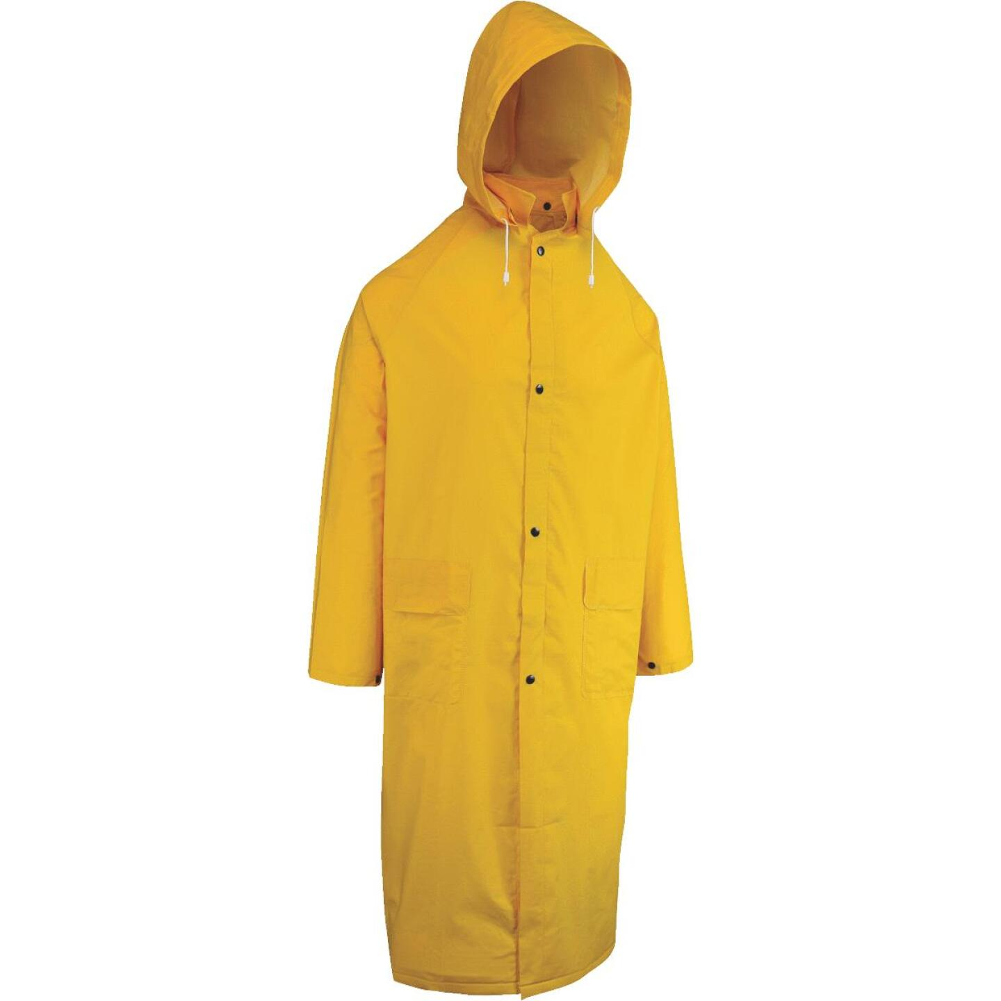 West Chester 2XL Safety Yellow PVC Raincoat Image 1