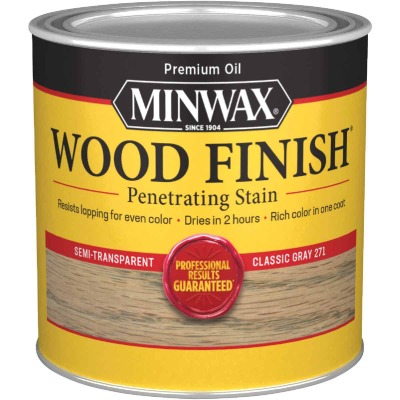 Minwax Wood Finish Penetrating Stain, Classic Gray, 1/2 Pt.