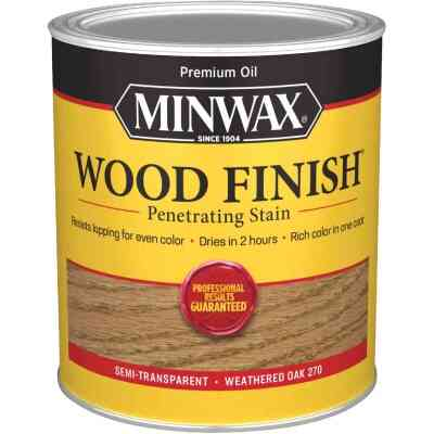 Minwax Wood Finish Penetrating Stain, Weathered Oak, 1 Qt.