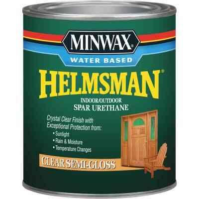 Minwax Helmsman Quart Semi-Gloss Water-Based Spar Interior/Exterior Varnish