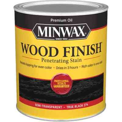 Minwax Wood Finish Penetrating Stain, True Black, 1 Qt.