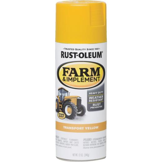 Rust-Oleum 12 Oz. Transport Yellow Farm & Implement Spray Paint