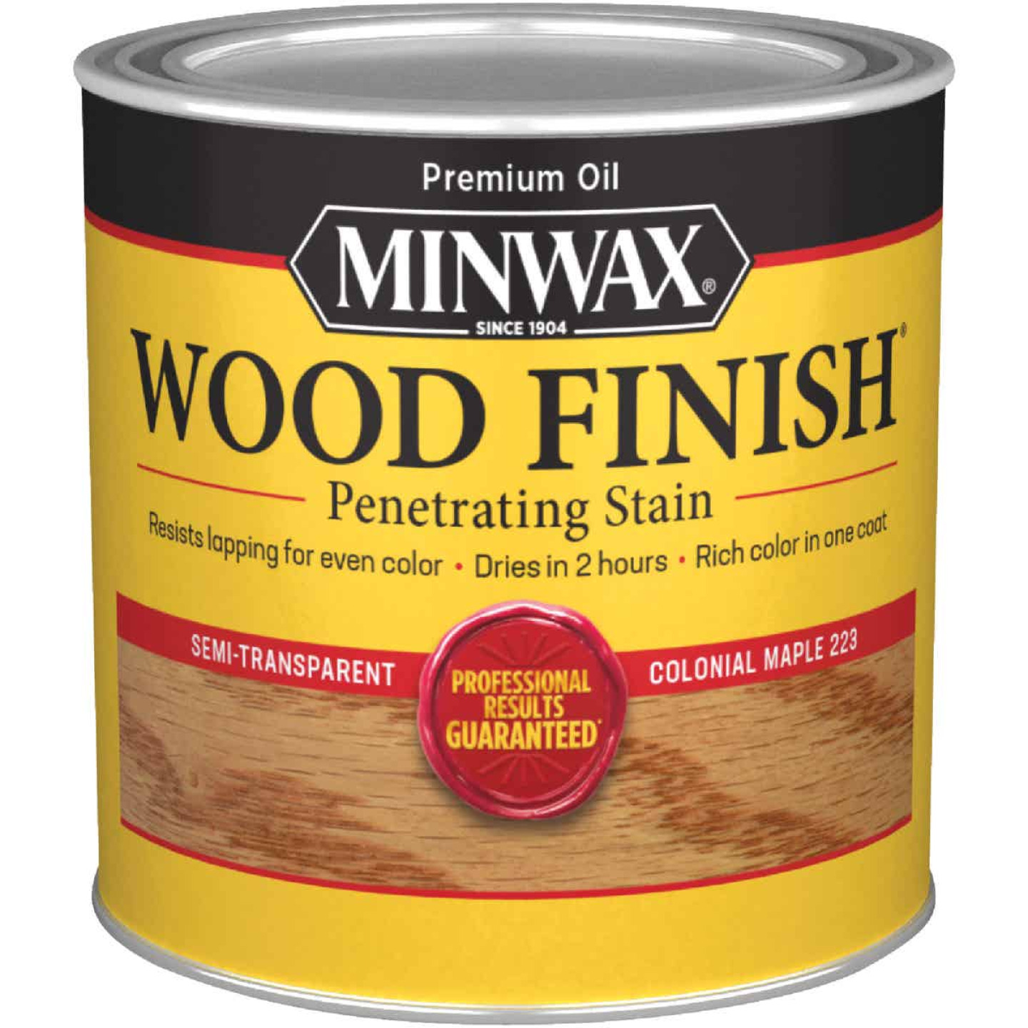 Minwax Wood Finish Penetrating Stain, Colonial Maple, 1/2 Pt. Image 1