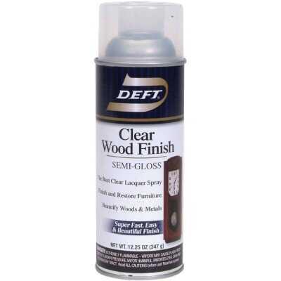 Deft 12.25 Oz. Semi-Gloss Clear Wood Finish Interior Spray Lacquer