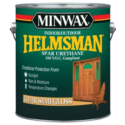 Minwax Helmsman VOC Semi-Gloss Spar Interior & Exterior Varnish, Gallon