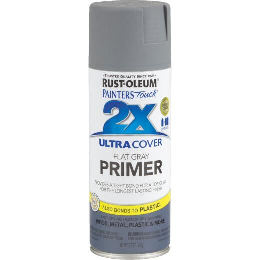 Rustoleum Painter's Touch 2X Ultra Cover Flat Gray Spray Paint Primer