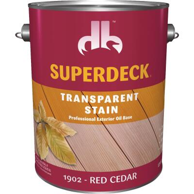 Duckback SUPERDECK Transparent Exterior Stain, Red Cedar, 1 Gal.