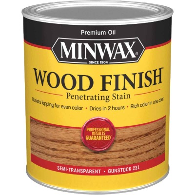 Minwax Wood Finish Penetrating Stain, Gunstock, 1 Qt.