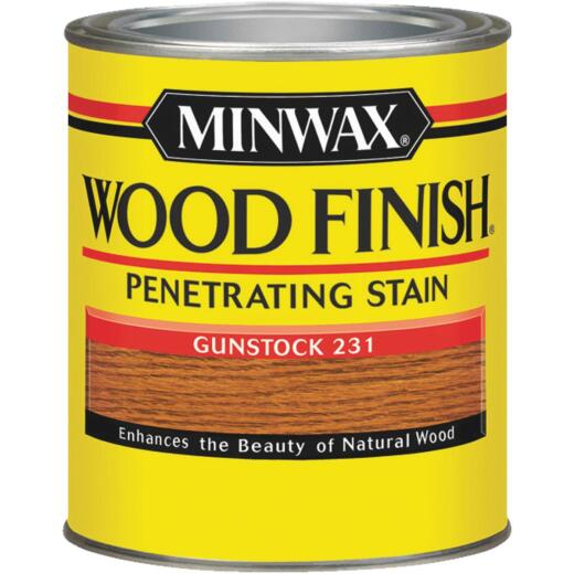 Minwax Wood Finish Penetrating Stain, Gunstock, 1/2 Pt.