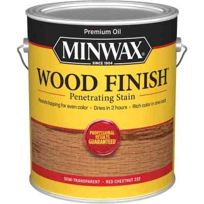 Minwax Wood Finish Penetrating Stain, Red Chestnut, 1 Gal.
