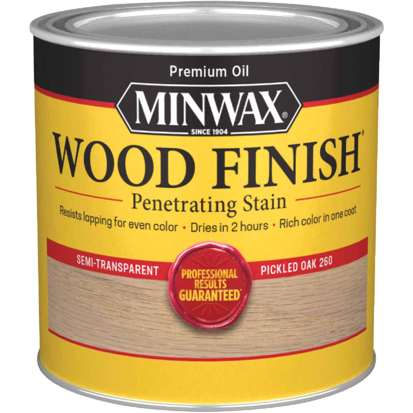 Minwax Wood Finish Penetrating Stain, Pickled Oak, 1/2 Pt. Image 1