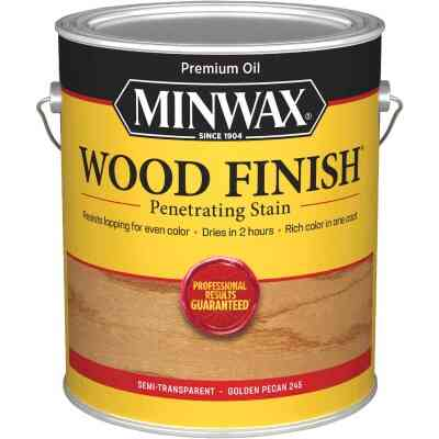 Minwax Wood Finish Penetrating Stain, Golden Pecan, 1 Gal.