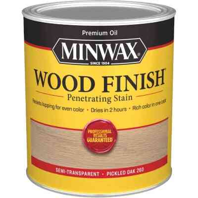 Minwax Wood Finish Penetrating Stain, Pickled Oak, 1 Qt.
