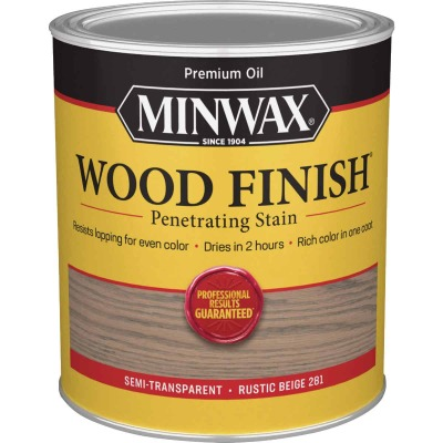 Minwax Penetrating Stain Wood Finish, Rustic Beige, 1 Qt.