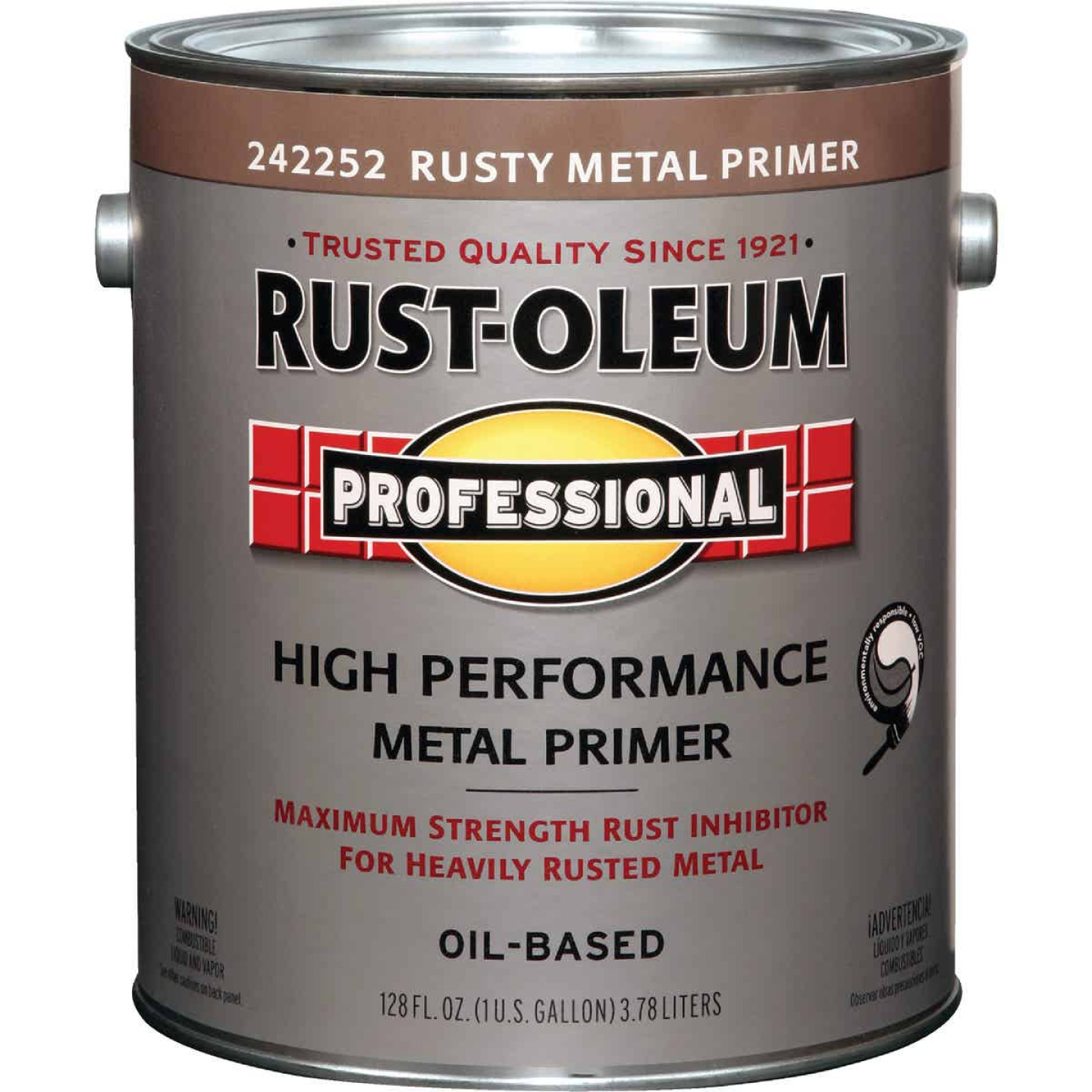 Rust-Oleum VOC Red Rusty Metal Primer For SCAQMD, Red, 1 Gal. Image 1