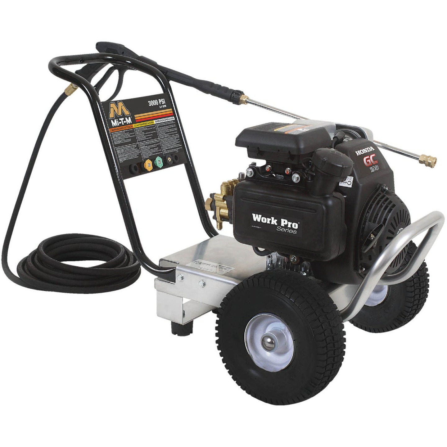 Mi-T-M Work Pro 3000 psi 2.3 GPM Cold Water Gas Pressure Washer Image 1