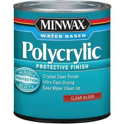 Minwax Polycrylic 1/2 Pt. Gloss Water Based Protective Finish