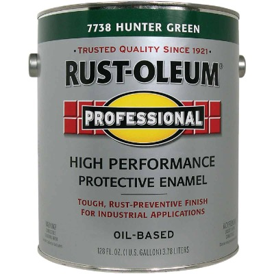 Rust-Oleum Gloss VOC for SCAQMD Professional Enamel, Hunter Green, 1 Gal.