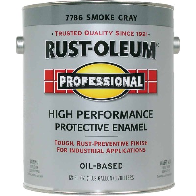 Rust-Oleum Gloss VOC for SCAQMD Professional Enamel, Smoke Gray, 1 Gal.