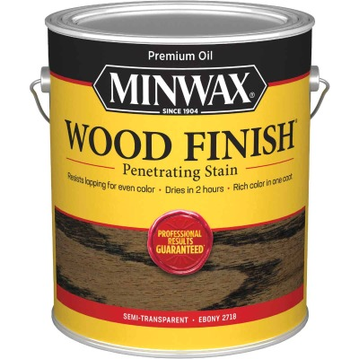 Minwax Wood Finish Penetrating Stain, Ebony, 1 Gal.