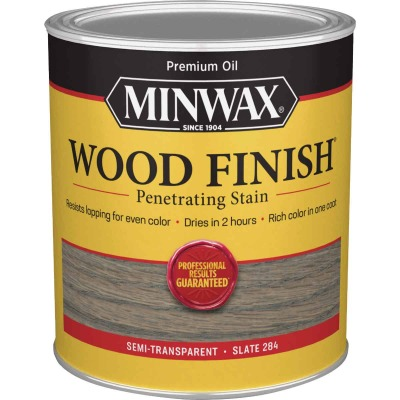Minwax Penetrating Stain Wood Finish, Slate, 1 Qt.