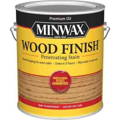 Minwax Wood Finish Penetrating Stain, Golden Oak, 1 Gal.
