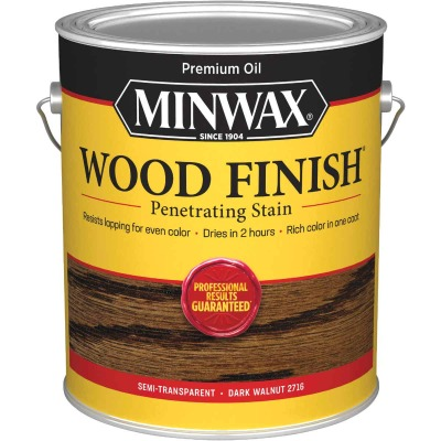 Minwax Wood Finish Penetrating Stain, Dark Walnut, 1 Gal.